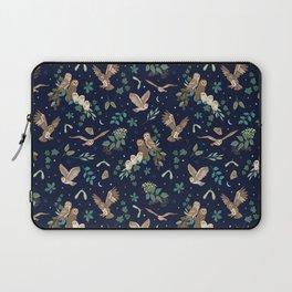 Woodland Owls at Midnight Laptop Sleeve