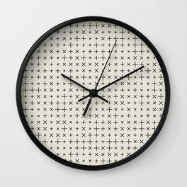 Grid Pattern 006 Wall Clock
