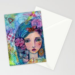 Peyton Whimsical Face Stationery Cards