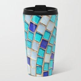 Blue Tiles - an abstract photograph. Travel Mug