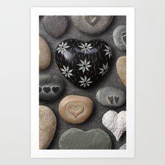 HEARTS AND STONES Art Print