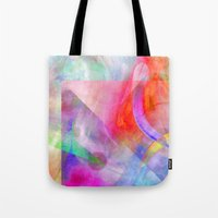 funky Tote Bags featuring Funky Art  by Christine baessler