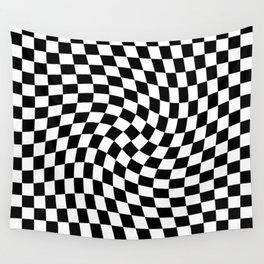 Check VIII - Black Twist — Checkerboard Print Wall Tapestry