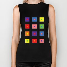 Colorful cubes Biker Tank