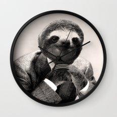 Gentleman Sloth #3 Wall Clock