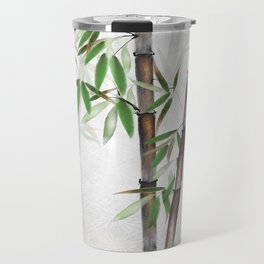 Bamboo Forest on patterned cloth Travel Mug