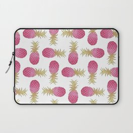 Ombre Pink Illustrated Pineapple Laptop Sleeve