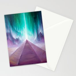 The energy of the pyramid on Mars Stationery Cards