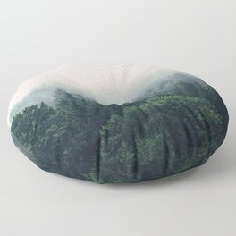 Between every two pines is a doorway to a new world Floor Pillow