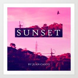 Sunset Horizont Art Print