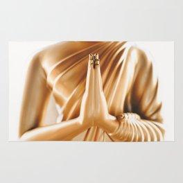 Buddha statue in Phuket's Wat Chalong temple Rug