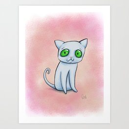 Ghost-cat Art Print