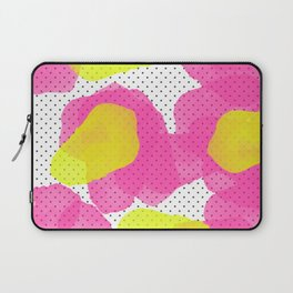 Sarah's Flowers - Abstract Watercolor on Polka Dots Laptop Sleeve