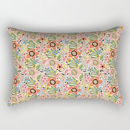 Fresh Cut Flowers Rectangular Pillow