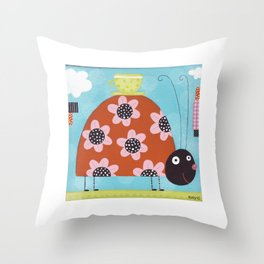 Hey Lady Throw Pillow