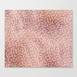 Rose Gold Squiggle Canvas Print