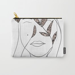 Glitter Lady #2 #minimal #line #art #society6 Carry-All Pouch
