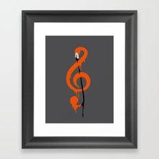 flamenco music Framed Art Print