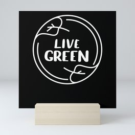 Live Green Climate Mini Art Print