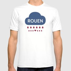 Rainy Rouen Mens Fitted Tee White MEDIUM