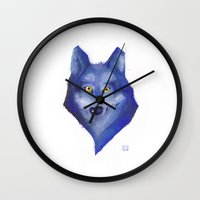 lou reed Wall Clocks featuring Lou by Eff Märthy
