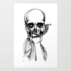 Skull of Time Art Print
