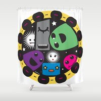 poker Shower Curtains featuring poker by justine