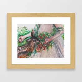 I'm healing with time Framed Art Print