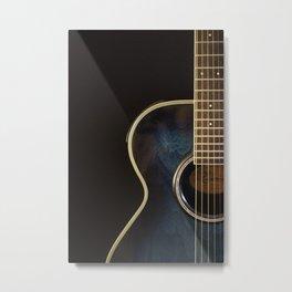 Acoustic Guitar Colour Metal Print