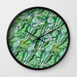 Crystal Emerald Pattern Green Gem 1 Wall Clock