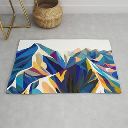 Mountains cold Rug