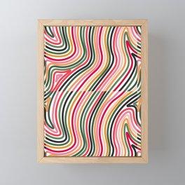 Colourful Lines 2 Framed Mini Art Print