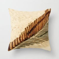 Bolonia beach Throw Pillow