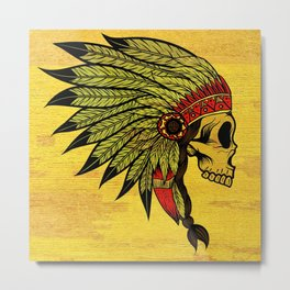 American Indians Death face Design Metal Print