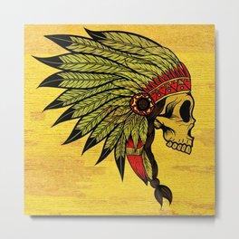 American Indians Death face Design Metal Print
