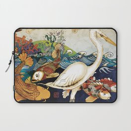 Koi & Egret Laptop Sleeve