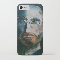 steve jobs iPhone & iPod Cases featuring Steve Jobs by Charles Dowdy