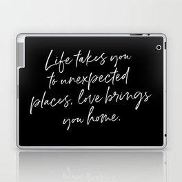 Life Quote Art Laptop & iPad Skin