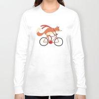 mr fox Long Sleeve T-shirts featuring mr. fox by tesslucia