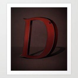 Superbet 'D' Art Print