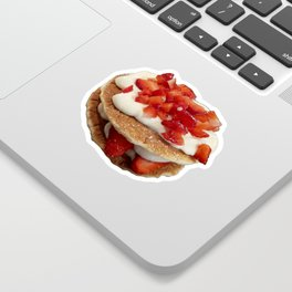 pancakes_strawberries_and_whip_cream Sticker