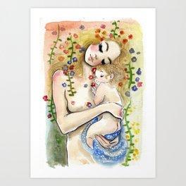 Klimt6 : Mother and Child Art Print