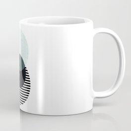 Blue, Black & Striped Circles Coffee Mug