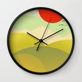Countryside beauty Wall Clock