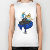 finn and jake Biker Tanks featuring FINN, JAKE, FIONNA & CAKE by Echo Faust