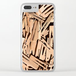 Clothespin Clear iPhone Case
