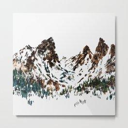 Valley Beneath the Towering Peaks Metal Print
