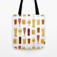 beer Tote Bags featuring Beer  by Cute to Boot