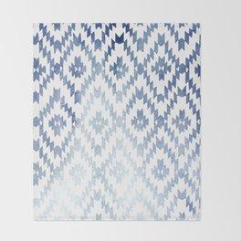 Indigo Ikat Print 3 Throw Blanket