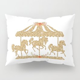Glitter Carousel Pillow Sham